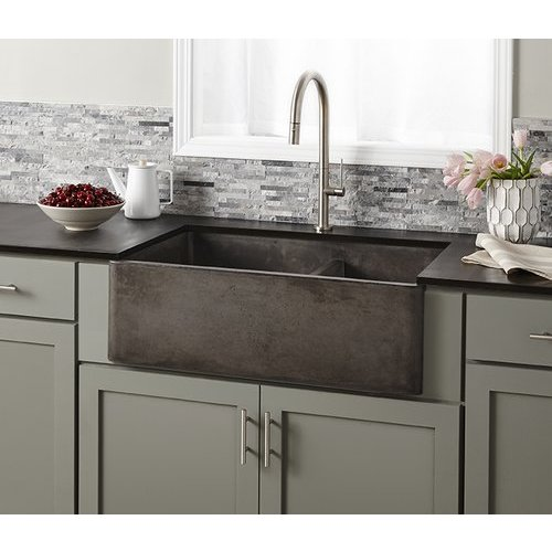 "33"" x 21"" Farmhouse Reversible Kitchen Sink - Slate <small>(#NSKD3321-S)</small>"