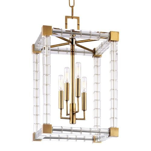 Alpine 6 Light Chandelier - Aged Brass <small>(#7118-AGB)</small>