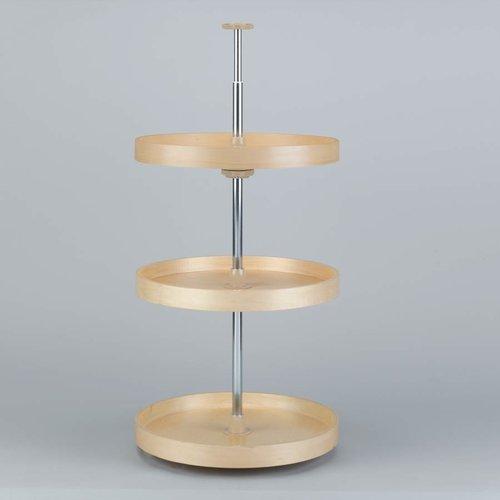 Full Circle Three Shelf Set 18 inch Diameter - Wood <small>(#LD-4BW-063-1836-1)</small>