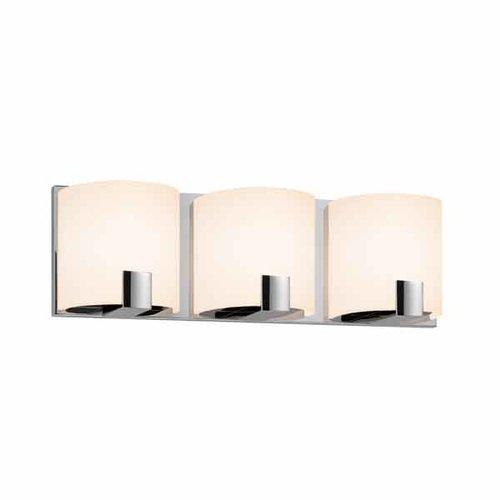 sonneman c shell led 3 light bathroom light bar polished Bathroom Vanity Light Bars Bathroom Vanity Light Bar Cover