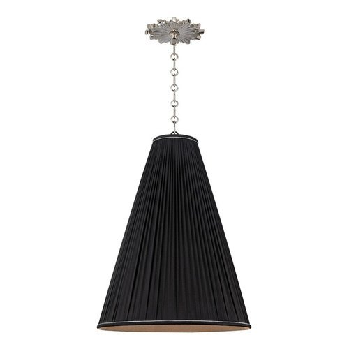 Blake 1 Light Pendant With Black S - Polished Nickel <small>(#7818-PN-B)</small>