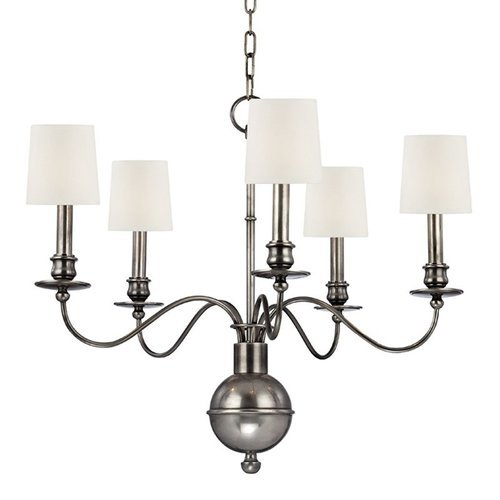 Cohasset 5 Light Chandelier - Aged Silver <small>(#8215-AS-WS)</small>