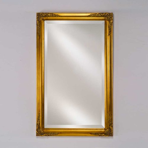 """Estate 24"""" Mirror - Antique Gold <small>(#EC13-2430-GD)</small>"""