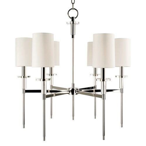 Amherst 6 Light Chandelier - Polished Nickel <small>(#8516-PN)</small>