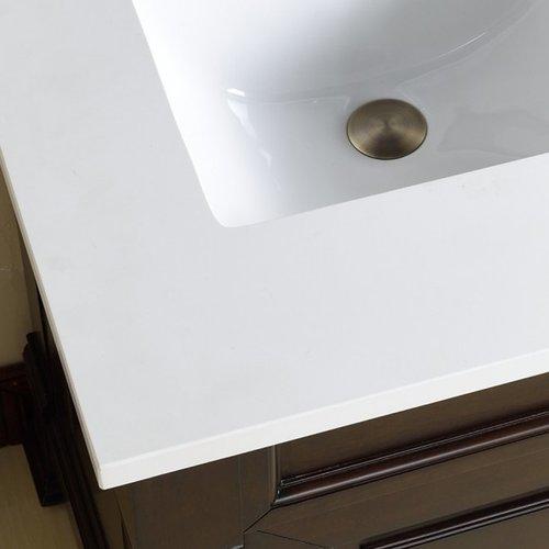 "Double Bowl Vanity Tops For Bathrooms: James Martin 72"" Double Bowl Vanity Top Only"