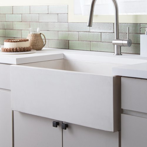 "30"" x 18"" Farmhouse NativeStone Apron Front Sink - Pearl <small>(#NSK3018-P)</small>"
