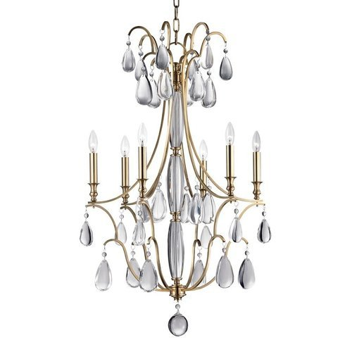 Crawford 6 Light Chandelier - Aged Brass <small>(#9324-AGB)</small>