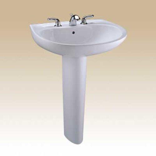 "TOTO 22-7/8"" x 19-5/8"" Pedestal Bathroom Sink - Colonial White LPT241G#11"