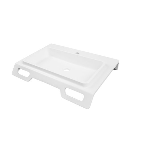 "DECOLAV Nasira 18"" x 25"" Wall Mount Bathroom Sink - White <small>(#1834-SSA)</small>"