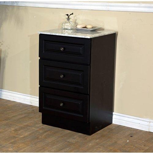 "Dark Mahogany Kitchen Cabinets: Bellaterra 20"" Floor Cabinet"