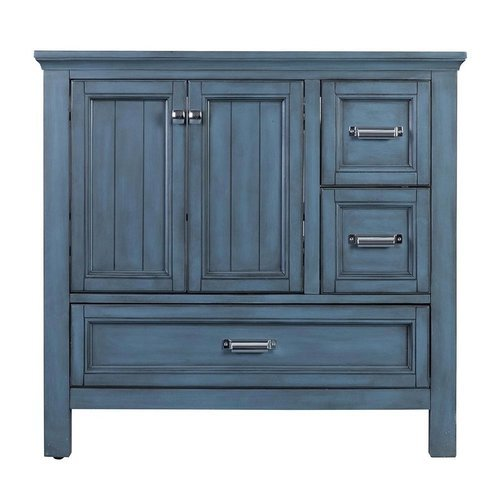 36 Inches Free Standing Brantley Vanity Only - Harbor Blue <small>(#BABV3622D)</small>
