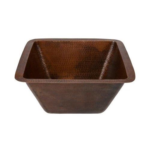15 Inch Square Undermount Bar/Prep Sink, 3.5 Inch Drain - Oil Rubbed Bronze <small>(#BS15DB3)</small>