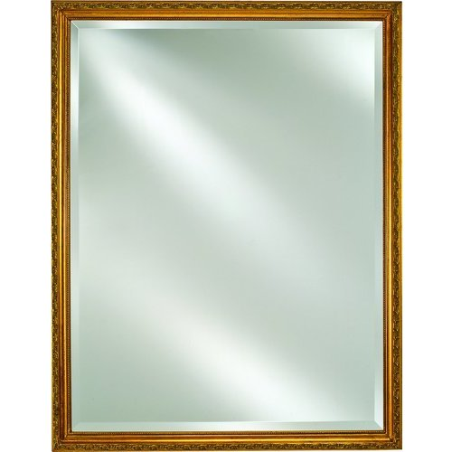 """Basix 24"""" Mirrored Medicine Cabinet -Antique Gold <small>(#SD-2430-R-BSX-GD)</small>"""