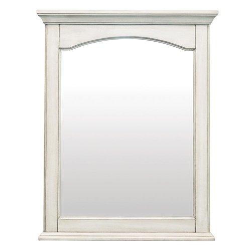 24 Inches Corsicana Mirror - Antique White <small>(#CNAWM2430)</small>