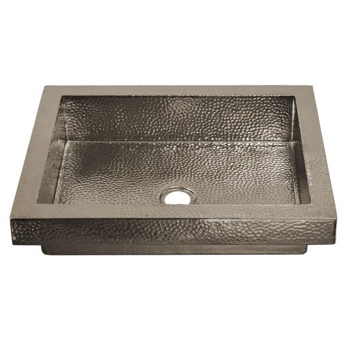 20x16 Inch Tatra Rectangular Drop-In Copper Sink - Polished Nickel <small>(#CPS846)</small>