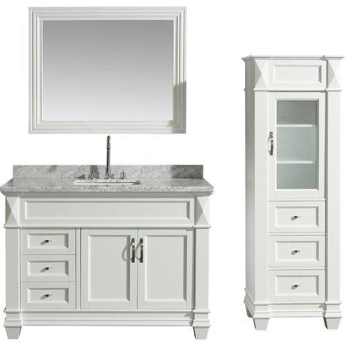 65 Inch Bathroom Vanity Single Sink: Design Element 48 Inch Hudson Single Sink Vanity Set With