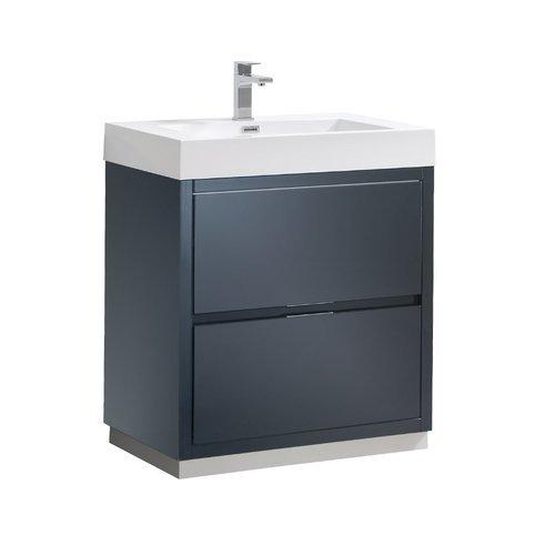"Valencia 30"" Dark Slate Gray Free Standing Modern Bathroom Vanity <small>(#FCB8430GG-I)</small>"