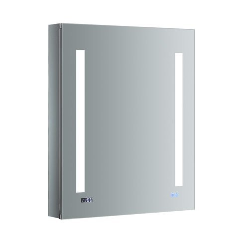 "Tiempo 24"" Wide x 30"" Tall Bathroom Medicine Cabinet w/ LED Lighting & Defogger <small>(#FMC012430-L)</small>"