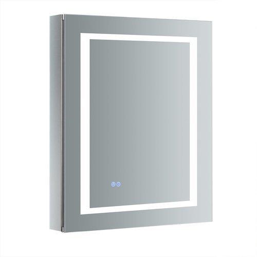 "Spazio 24"" Wide x 30"" Tall Bathroom Medicine Cabinet w/ LED Lighting & Defogger <small>(#FMC022430-R)</small>"