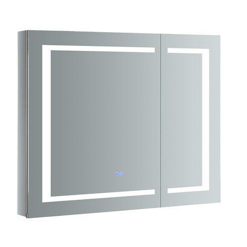 "Spazio 36"" Wide x 30"" Tall Bathroom Medicine Cabinet w/ LED Lighting & Defogger <small>(#FMC023630)</small>"