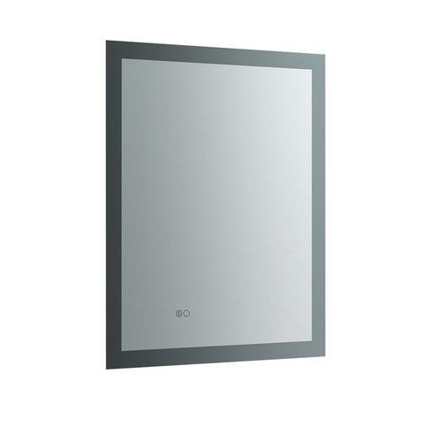 """Angelo 24"""" Wide x 30"""" Tall Bathroom Mirror w/ Halo LED Lighting and Defogger <small>(#FMR012430)</small>"""