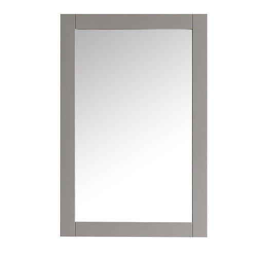 "Hartford 20"" Gray Traditional Bathroom Mirror <small>(#FMR2302GR)</small>"