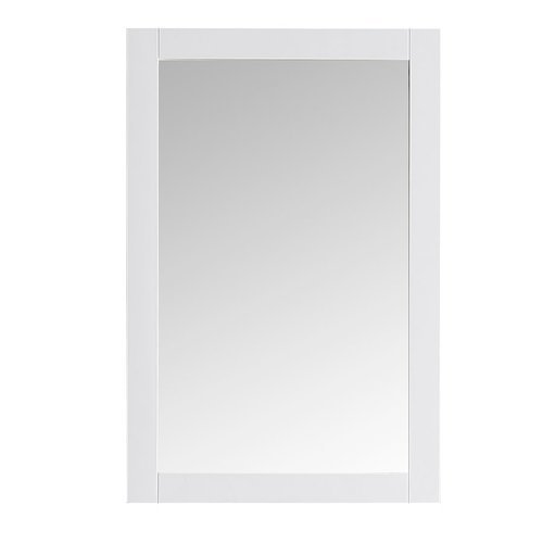 "Hartford 20"" White Traditional Bathroom Mirror <small>(#FMR2302WH)</small>"