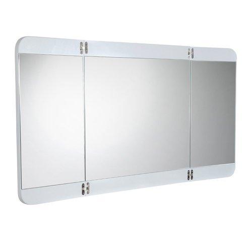 """Energia 48"""" White Three Panel Folding Mirror <small>(#FMR5092PW)</small>"""
