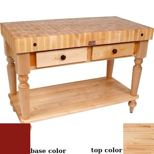 48x24 Butcher Block Table Wicker Baskets: John Boos 48 Inch X 24 Inch Le Rustica Work Table With 3