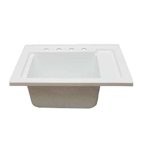 30 Inches Drop-in Acrylic Laundry Sink - White <small>(#LS-3021-W)</small>