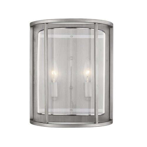 Haynes 2-Light Sconce Mesh Overlay - Brushed Nickel <small>(#ST1128-BN)</small>