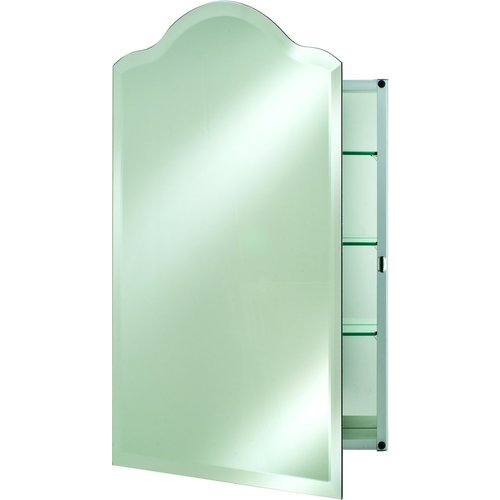 Afina 16 Quot Scallop Top Wall Mount Mirrored Medicine Cabinet