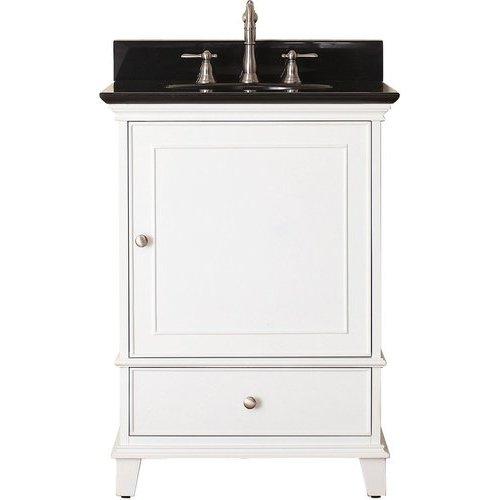 "25"" Windsor Single Vanity - Black Granite Top <small>(#WINDSOR-VS24-WT-A)</small>"