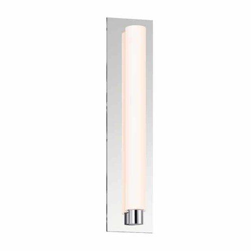 Tubo Slim 18 LED Bathroom Sconce - DrumTrim/Polished Chrome <small>(#2443.01-DT)</small>
