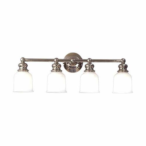 Hudson valley riverton 4 light bathroom vanity light for Bathroom decor riverton