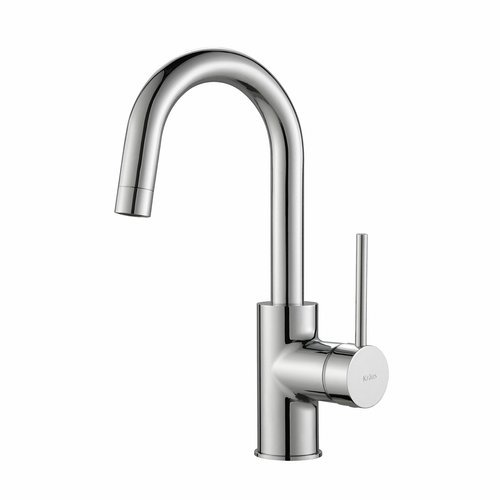 Oletto Single Handle Kitchen Bar/Prep Faucet -Chrome <small>(#KPF-2600CH)</small>