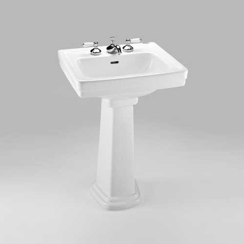 "TOTO 24"" x 19-1/4"" Pedestal Bathroom Sink - Cotton White LPT532.8N#01"