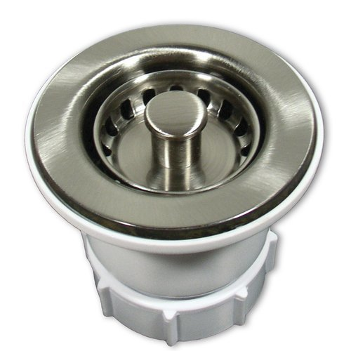 "2"" Round Jr. Strainer - Brushed Nickel <small>(#DR220-BN)</small>"