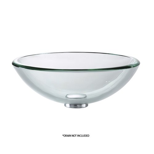 """17"""" Clear Vessel Sink - Clear <small>(#GV-101-19mm)</small>"""