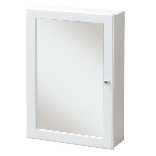 """17"""" Heartland Mirrored Medicine Cabinet - White <small>(#HEWC1724)</small>"""