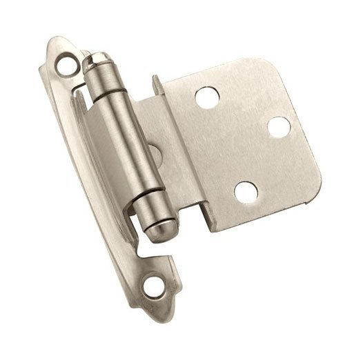 Amerock 3/8 inch Inset Hinge Satin Nickel-Sold Per Pair CM7128G10