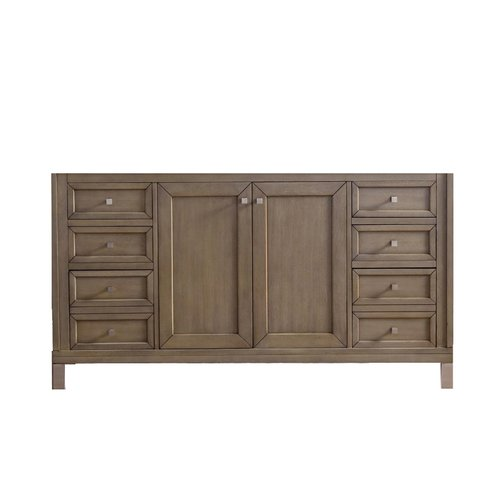 "60"" Chicago Double Cabinet Only w/o Top -White Washed Walnut <small>(#305-V60D-WWW)</small>"