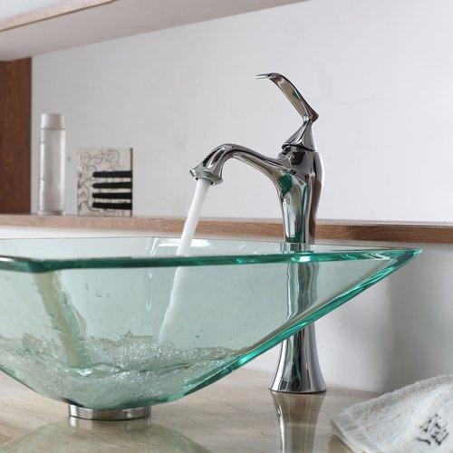 Ventus Vessel Bathroom Faucet - Chrome <small>(#KEF-15000-PU-10CH)</small>