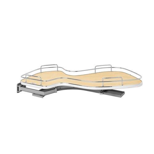 Cloud 15 inch Single Tier Blind Corner Organizer Left Hand Maple <small>(#5371-15-MP-L)</small>
