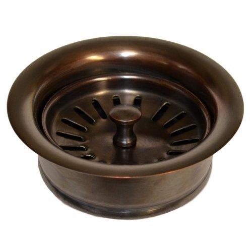 """3-1/2"""" Basket Strainer Drain w/Disposer Trim - Solid Copper <small>(#DR340-SC)</small>"""