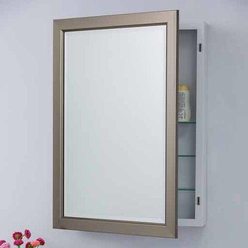 "Bellaterra 30"" x 22"" Recessed/Surface Mount Mirror - Silver 808901"