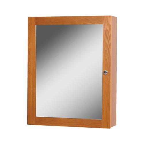 """19"""" Worthington Mirrored Medicine Cabinet - Oak <small>(#WROC1924)</small>"""