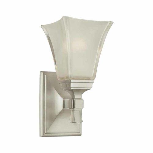 Hudson Valley Kirkland 1 Light Bathroom Sconce - Satin Nickel 1171-SN
