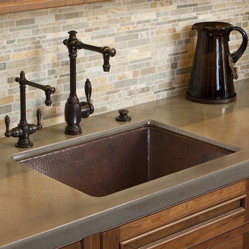 """Native Trails 24"""" x 18"""" Cocina Undermount Kitchen Sink - Antique Copper CPK279"""
