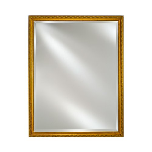 """30"""" x 20"""" Estate Wall Mount Mirror - Antique Gold <small>(#EC10-2030-GD)</small>"""